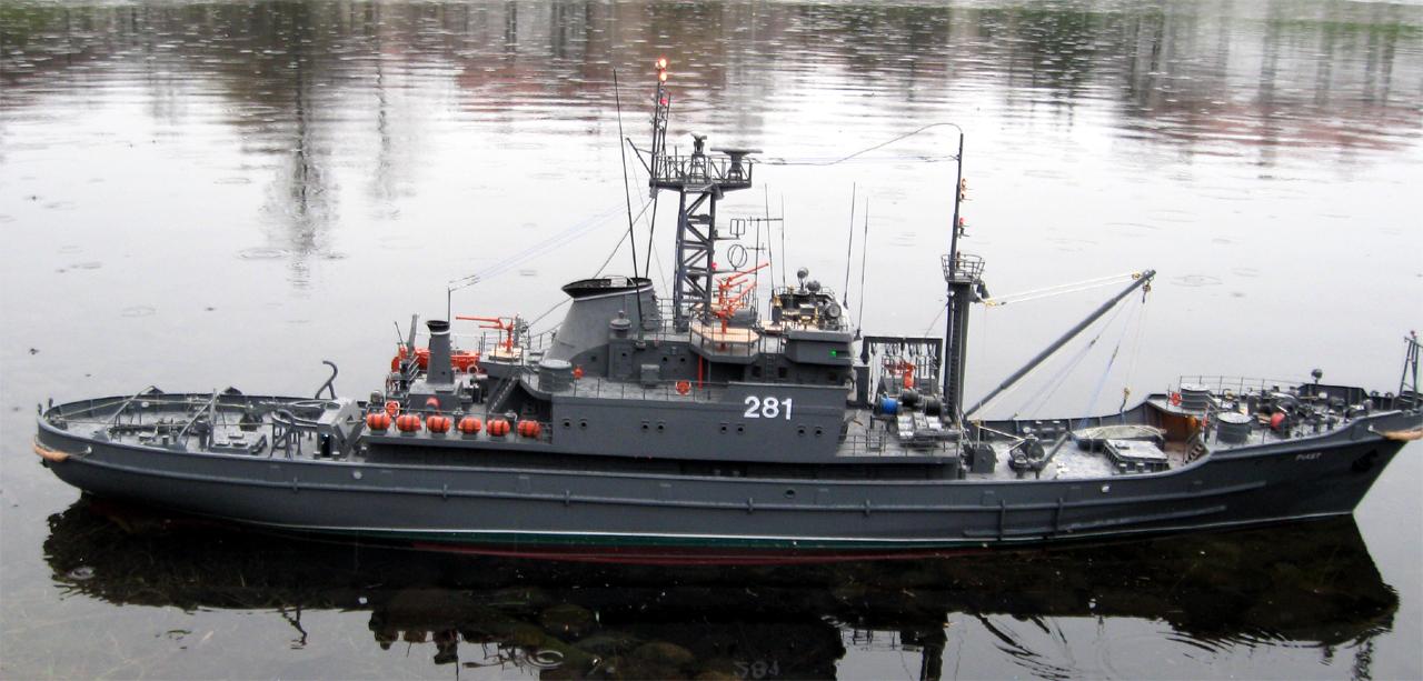 model okrętu ORP Piast