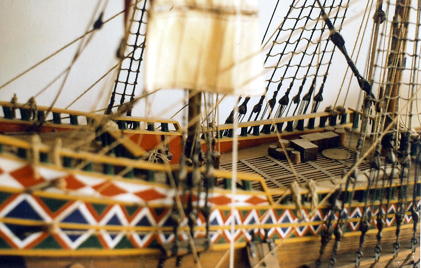 Górny pokład, model okrętu Wodnik