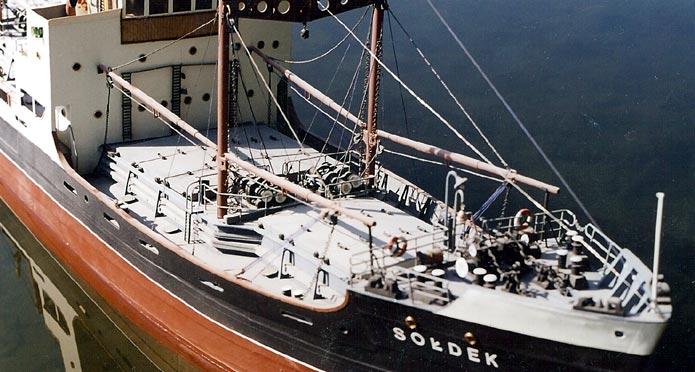Model parowca Sołdek