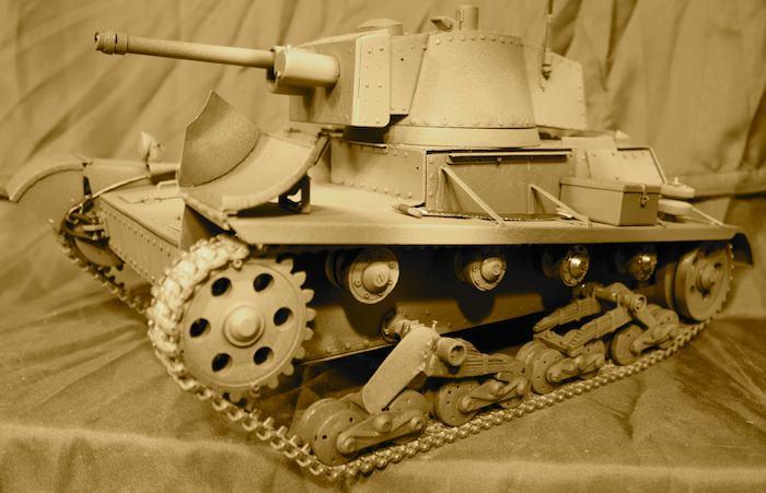 Model zdalnie sterowany, czołgu 7TP
